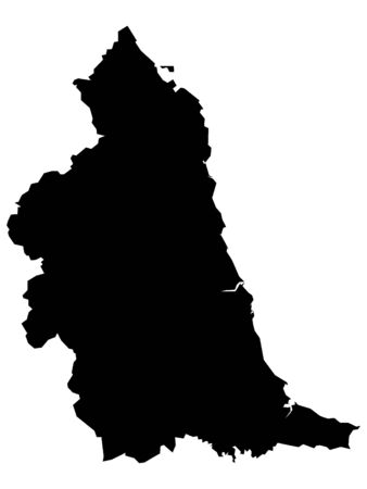 Black Map of the English Region of Northeast England