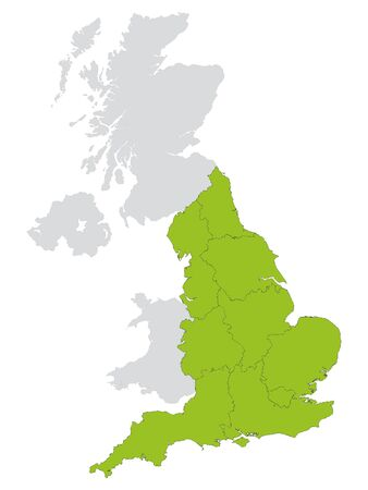 Green Map of Regions of England