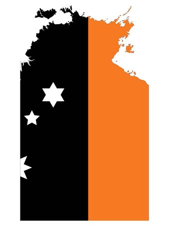 Combined Map and Flag of the Australian Northern Territory