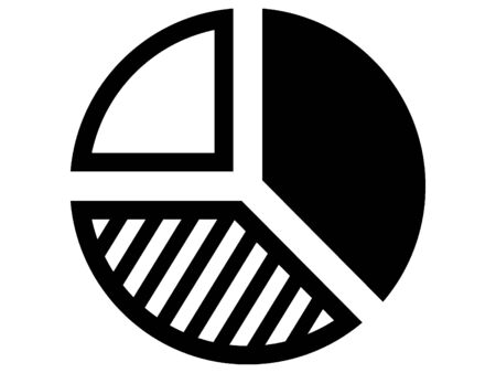 Black Pie Chart Icon Ilustrace