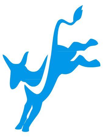 New Blue Symbol of USA Democratic Party Ilustrace