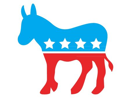Red and Blue Symbol of USA Democratic Party