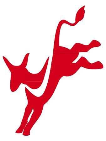 New Red Symbol of USA Democratic Party Reklamní fotografie - 133163260