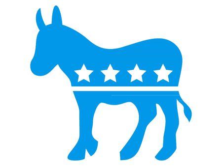 Symbole bleu du parti démocrate des États-Unis