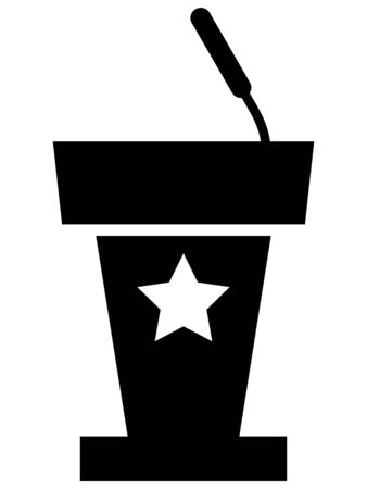 USA Elections Standing Counter Icon Ilustrace