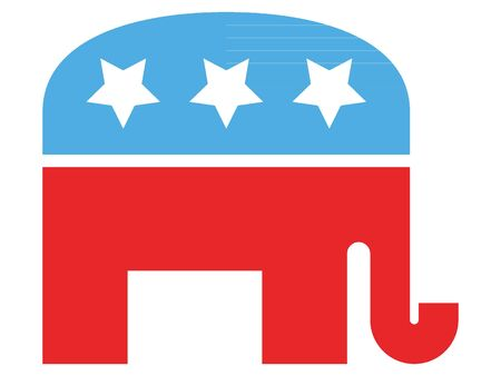 Red and Blue Symbol of USA Republican Party
