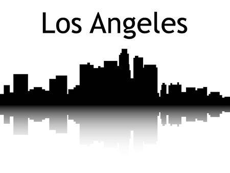 Silhouette Skyline of Los Angeles, California