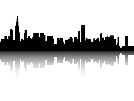 Silhouette-Skyline von Chicago, Illinois