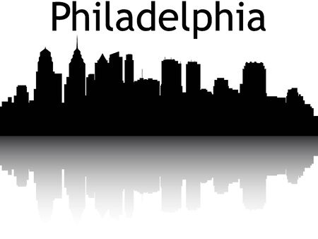 Silhouette Skyline of Philadelphia, Pennsylvania