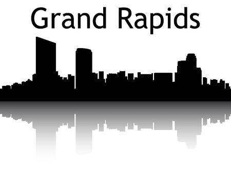 Silhouette Skyline of Grand Rapids, Michigan