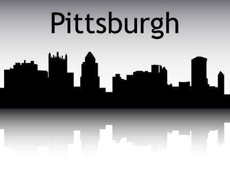 Silhouette Skyline of Pittsburgh, Pennsylvania