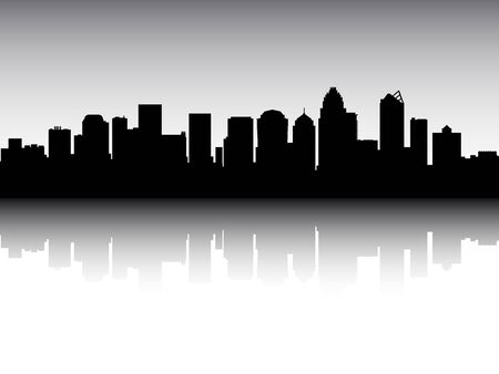 Silhouette Skyline of Charlotte, North Carolina