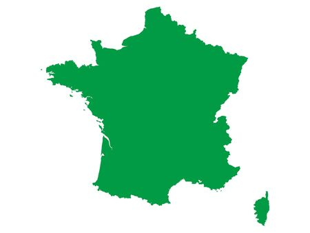 Green Flat Vector Map of France Archivio Fotografico - 133680495