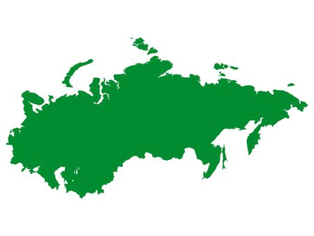 Green Flat Vector Map of Soviet Union