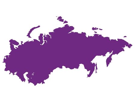 Purple Flat Vector Map of Soviet Union