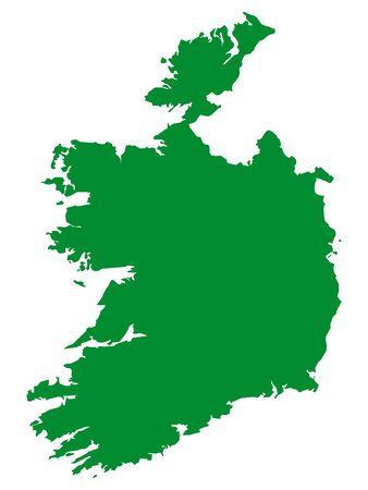 Green Flat Vector Map of Republic of Ireland Stock Vector - 133680282
