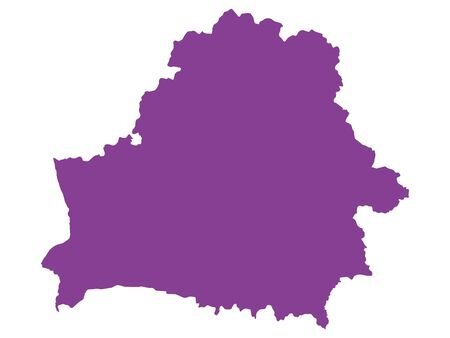 Purple Flat Vector Map of Belarus Иллюстрация