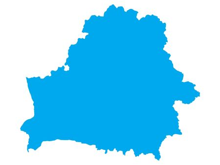Blue Flat Vector Map of Belarus Иллюстрация