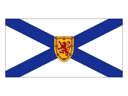 Flag of Nova Scotia, Canada Illustration