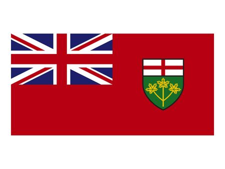 Flag of Ontario, Canada Ilustrace