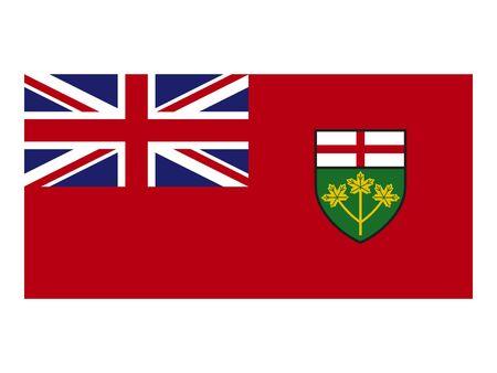 Flag of Ontario, Canada Reklamní fotografie - 133966095