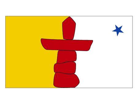 Flag of Nunavut, Canada Reklamní fotografie - 133966096