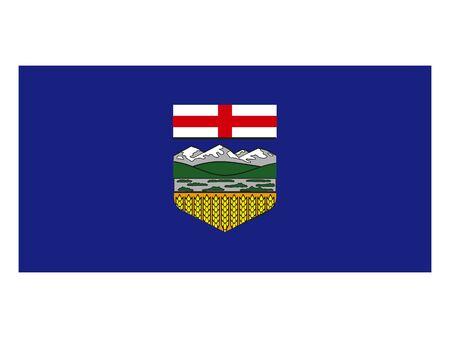 Flag of Alberta, Canada Reklamní fotografie - 133966100