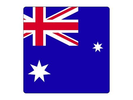 Square Flag of Australia Çizim