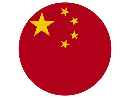 Round Flag of China