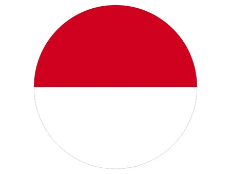 Round Flag of Indonesia