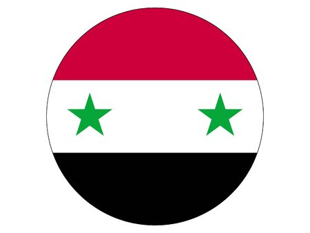 Round Flag of Syria