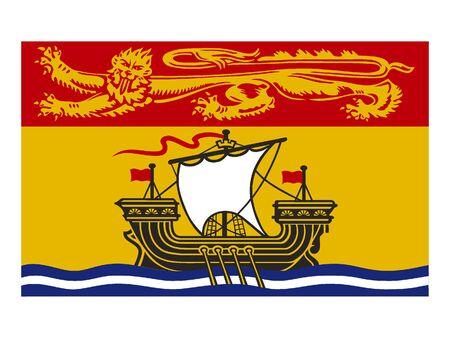 Flag of New Brunswick, Canada Reklamní fotografie - 133966180