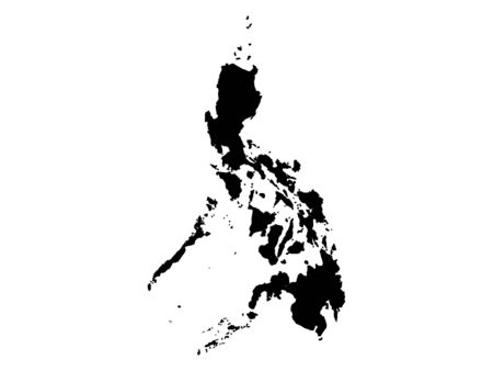 Black Silhouette Map of Philippines