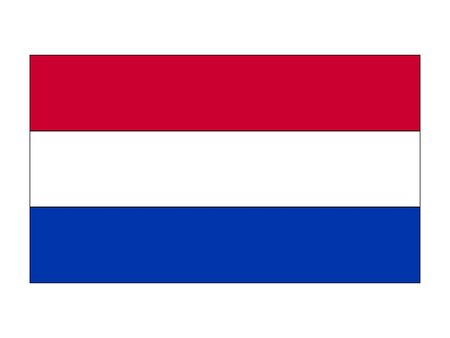 Flat Flag of the European Country of Netherlands 向量圖像