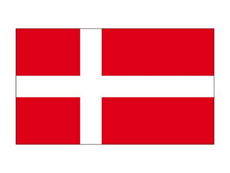 Flat Flag of the European Country of Denmark Ilustrace