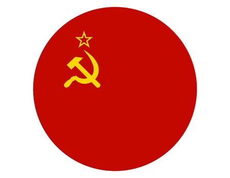 Round Flat Flag of the Soviet Union
