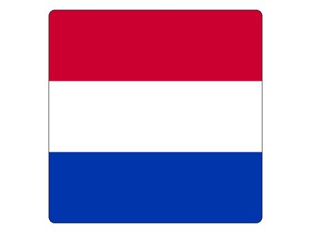 Square Flat Flag of the European Country of Netherlands 向量圖像