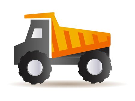 Yellow 3D Illustration of a Heavy Haul Truck