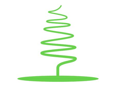 Green Modern Designer Christmas Tree 일러스트