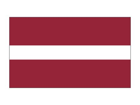Flat Flag of Latvia