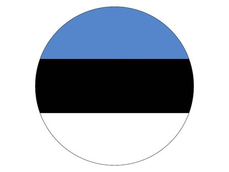 Round Flat Flag of Estonia