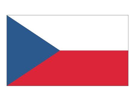 Flat Flag of Czech Republic Иллюстрация