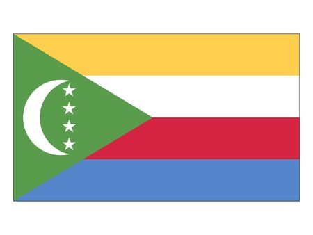 Flat Flag of Comoros 일러스트