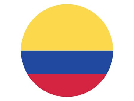 Round Flat Flag of Colombia