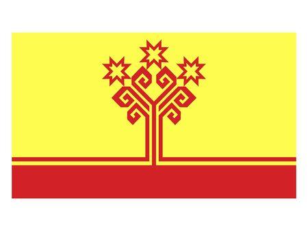 Flat Flag of Chuvash Republic (Chuvashia)