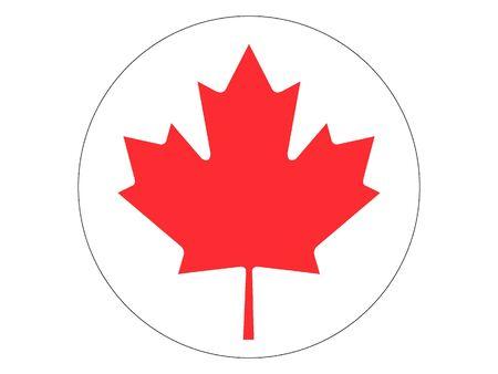 Round Flat Flag of Canada