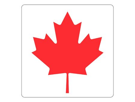 Square Flat Flag of Canada