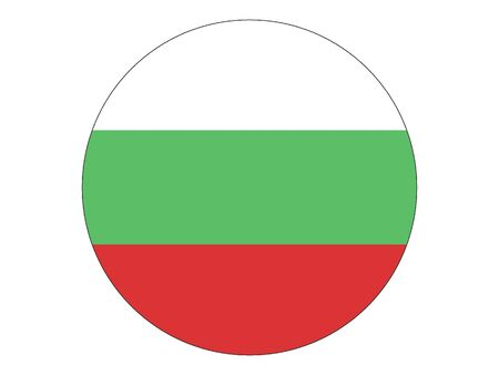 Round Flat Flag of Bulgaria