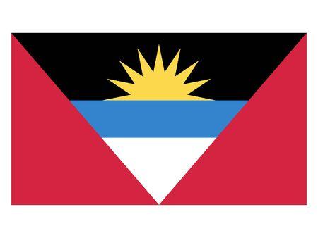 Flat Flag of Antigua and Barbuda