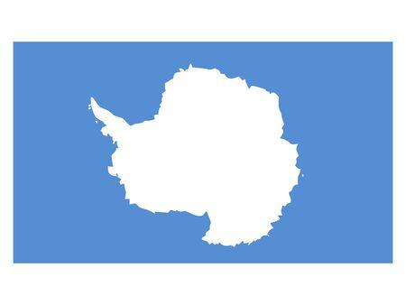 Flat Flag of Antarctica